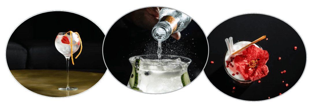 Drinks served at your unique and personal party at home